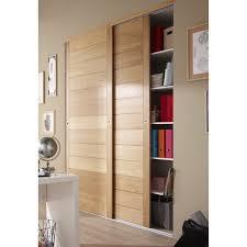 deco porte placard chambre porte de placard coulissante chêne naturel spaceo 250x97cm idées