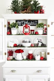 Decorating A Hutch A Decked Styled Christmas Hutch Just A And Her Blog