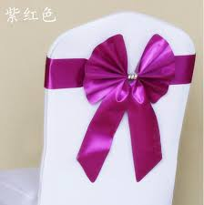 chair tie backs powdery purple yellow bow tie back stretch free chair cover