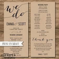 sle wedding ceremony program wedding order of event wedding ideas