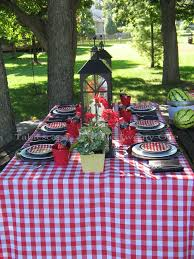 Party Tables Linens - another great option is using checkered linens u0027 first cousin