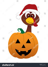 mash up pumpkin thanksgiving stock vector