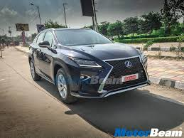lexus suv rx 450h lexus rx 450h spotted in delhi with test plates will launch in