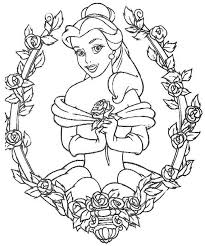 colouring sheets disney princess belle free girls u0026 boys