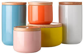 storage canisters for kitchen pottery canister sets vintage modern coffee within kitchen