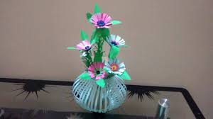 art and craft for home decoration how to create beautiful paper flower bouquet basket decoration