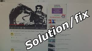 youtube pixelated video bug problem glitch solution youtube