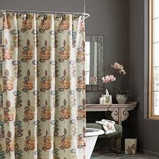 Shower Curtains Bed Bath And Beyond Croscill Mosaic Leaves Fabric Shower Curtain Bed Bath U0026 Beyond