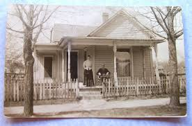 vintage photograph couple on porch country house vintage