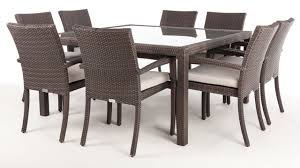 Glass Top Patio Dining Table Square Glass Top Dining Table And 4 Chairs 5pc Furniture Set