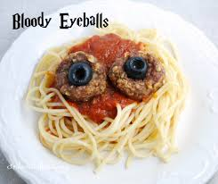 halloween recipe bloody eyeballs meatballs