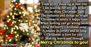 short christmas poems