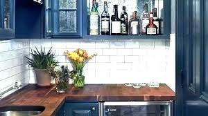 blue kitchen cabinets with wood countertops navy blue cabinets with wood countertop search