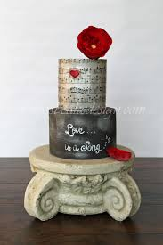 wedding cake song song cake song engagement cake wafer paper top tier