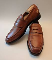 allen edmonds hinsdale brown leather penny loafers dress shoes