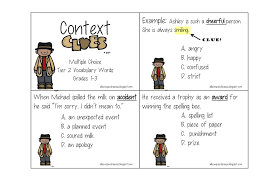 multiple choice context clues worksheets u0026 teaching context clues