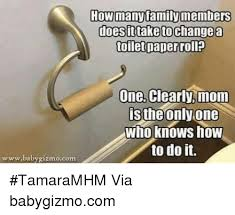 Toilet Paper Roll Meme - how manyfamily members doesit take change a toilet paper roll one