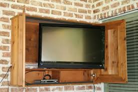 outdoor tv cabinet enclosure outdoor tv cabinet for the patio my diy projects pinterest