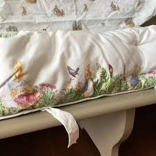 pottery barn table linens best pottery barn peter rabbit crib bumper and two crib sheets
