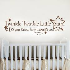 Wall Letter Decals For Nursery Wall Lettering Twinkle Twinkle Baby Nursery Wall Decal