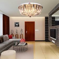 oofay light round crystal celling light with 9 lights flush mount