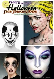 21 creepy and cool halloween face painting ideas lovebugs and