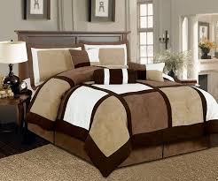White Bed Set King Amazon Com Legacy Decor 7 Pieces Brown U0026 Beige Micro Suede