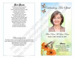 template funeral program sle funeral program funeral template exle