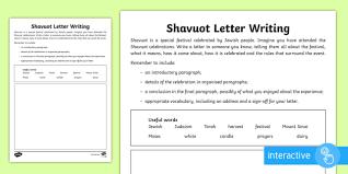 ks2 shavuot letter writing go respond activity sheet
