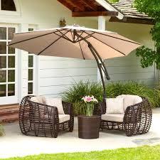 Outdoor Patio Set With Umbrella Idea Patio Sets With Umbrella For Rectangular Outdoor Umbrella