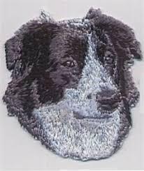 australian shepherd ebay australian shepherd silhouette embroidery pinterest