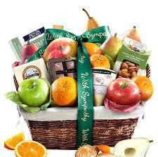 sympathy basket ideas mourning gift baskets top best sympathy ideas golden state fruit