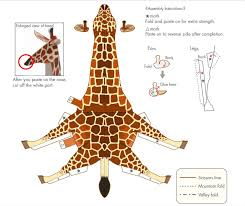 how to craft 2d giraffe hellokids com