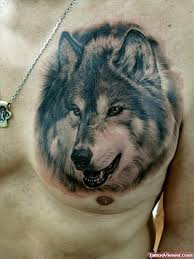 grey ink wolf on left chest viewer com