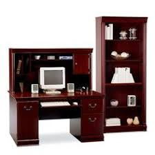 realspace landon desk with hutch realspace landon desk with hutch cherry item 761554 desks