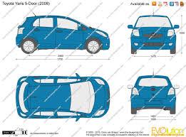 the blueprints com vector drawing toyota yaris 5 door