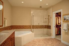 modern master bathroom with undermount sink u0026 drop in bathtub in