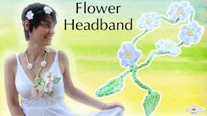 crochet flower headband crochet flower headband festival fashion diy pattern