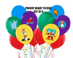 dr seuss balloons dr seuss stickers etsy