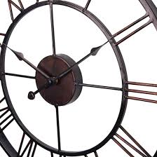 extra large vintage style statement metal wall clock country style