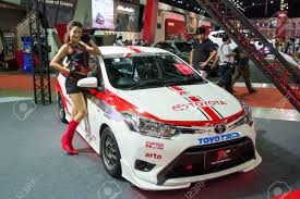 toyota international bangkok june 20 modified toyota vios on display at the 2nd