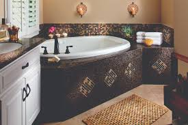 designs beautiful mosaic tile around bathroom mirror 5 stagger