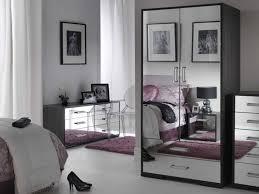 bedroom mirrored bedroom set elegant black mirrored glass bedroom