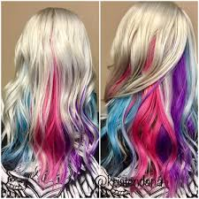 unicorn rainbow hair using joico color intensity hair and makeup