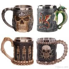 creative mugs skull goblet practical 3d creative mug stainless steel wine