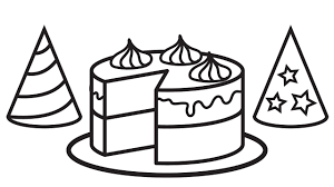 happy birthday cake coloring pages coloring book activities video