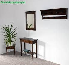 eckregal nussbaumfarben spiegel mit holzrahmen wandspiegel 60x83 flurspiegel massiv kolonial