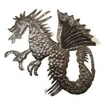 dragon wall sculpture metal wall art recycled haitian indoor