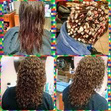 loose spiral perm medium hair medium hair perm with grey rods look book tspa pinterest
