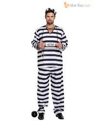 convict halloween costumes prisoner convict jumpsuit handcuffs prison break boiler suit fancy